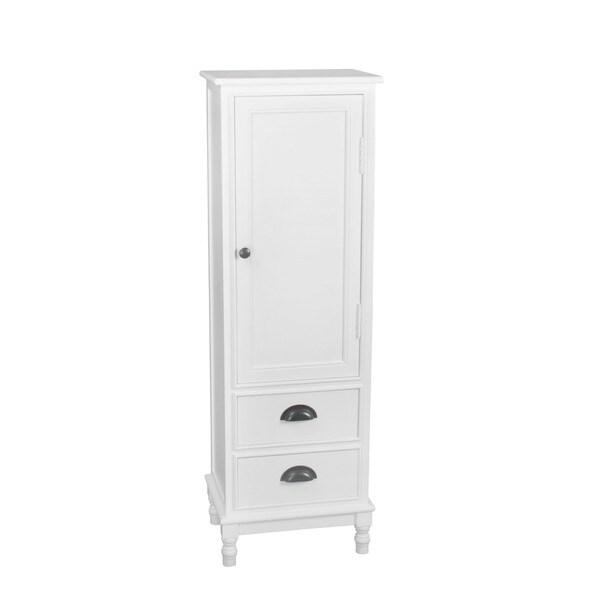 Privilege White Wood1 Door 2 Drawer Tallboy