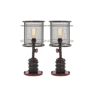 Studio 350 - Metal Table Lamp 21 inches high, Set of 2