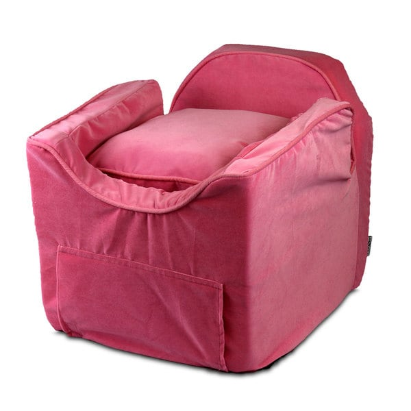Snoozer Luxury Microsuede Lookout II Dog Pink Car Seat