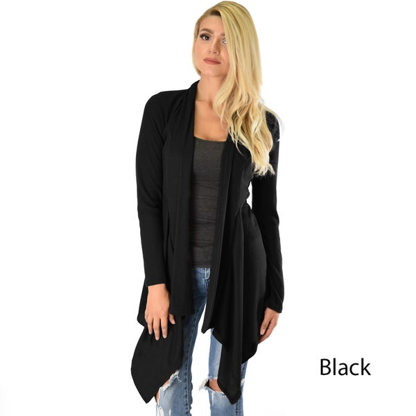 Draped Ribbed Cardigan 22299552