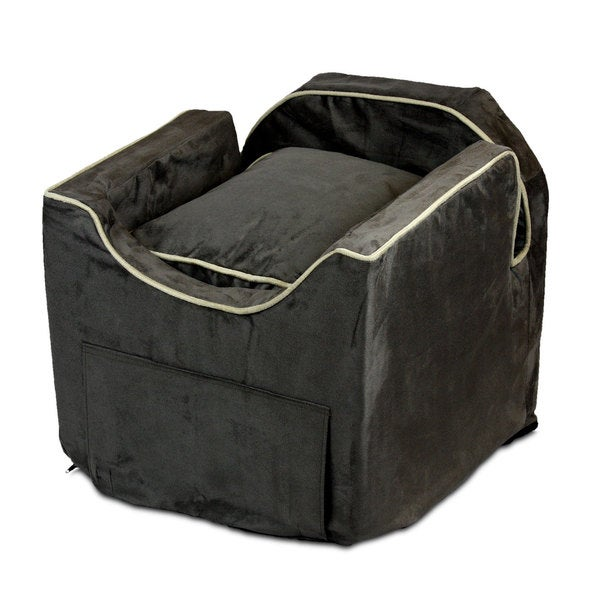 Snoozer Luxury Microsuede Lookout II Dog Dark Chocolate Car Seat