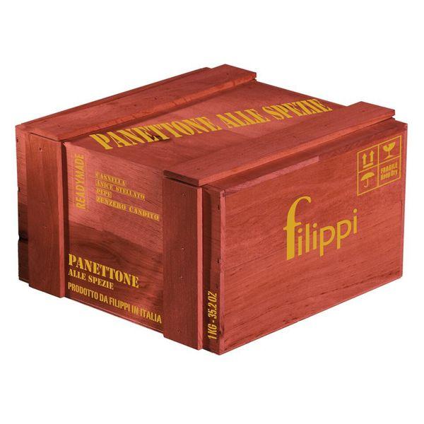 igourmet Panettone Alle Spezie in Wooden Gift Box by Filippi