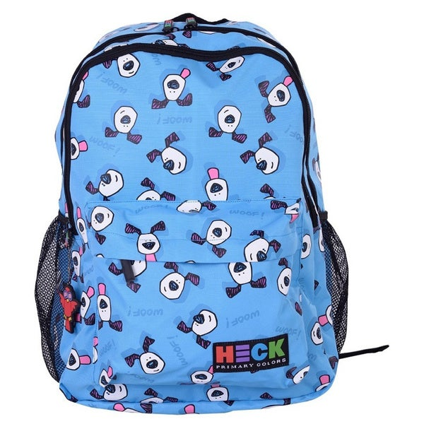 Ed Heck Last Licks Repeat Blue Polyester 17-inch Laptop Backpack