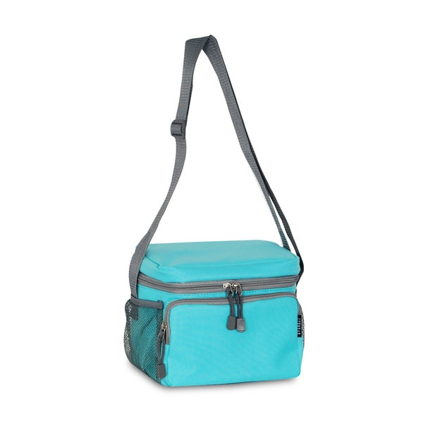 Everest Aqua Blue Shoulder Lunch Tote Bag