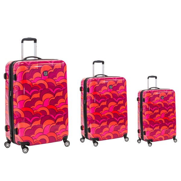 Ful Sunset 3-piece Fashion Hardside Spinner Luggage Set 22313171