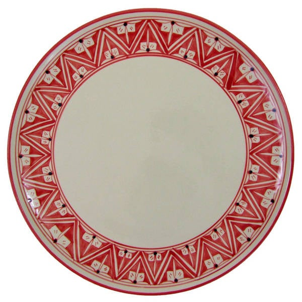 Handmade Round Stoneware Platter Nejma Design (Tunisia) 22313185