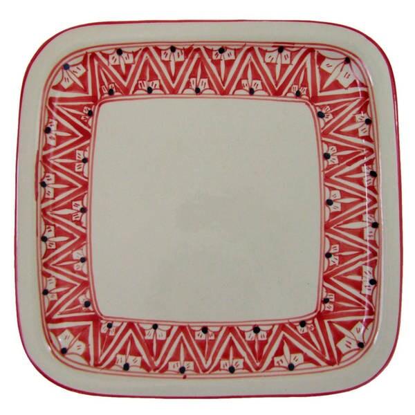 Handmade Square Stoneware Platter Nejma Design (Tunisia) 22313193