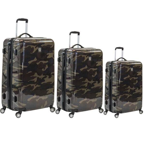 Ful Ridgeline 3-piece Fashion Hardside Spinner Luggage Set 22313194
