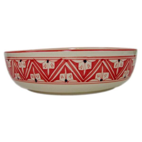 Wide Stoneware Serving Bowl Nejma Design (Tunisia) 22313222