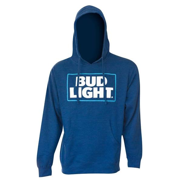 Royal Blue Polyester Bud Light Logo Hoodie