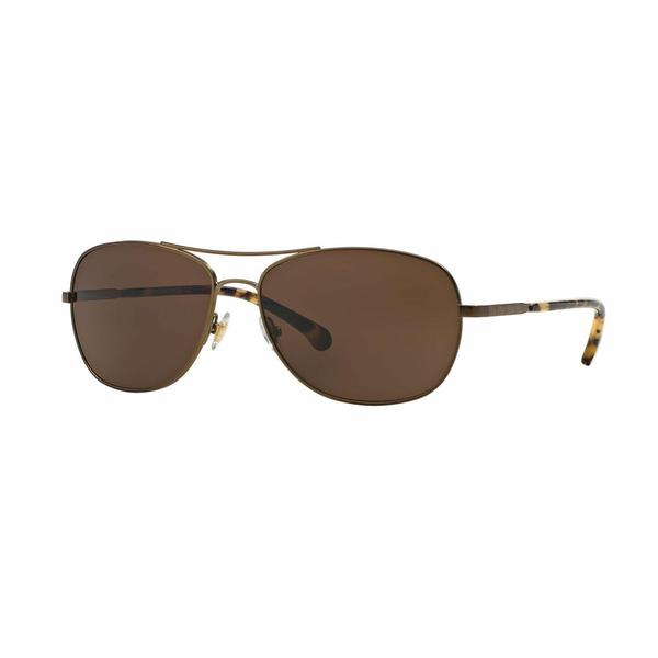 Brooks Brothers Mens BB4034S 129873 Light Brown Metal Cateye Sunglasses