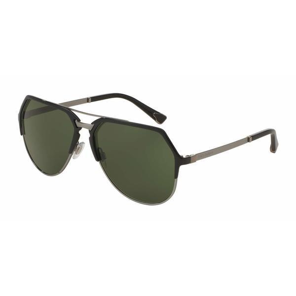 Dolce & Gabbana Mens DG2151 01/71 Black Metal Cateye Sunglasses
