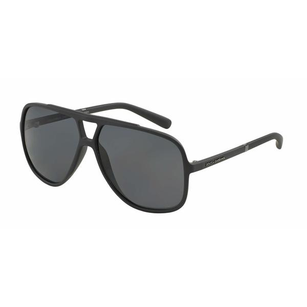 Dolce & Gabbana Mens DG6081 LIFESTYLE 265181 Grey Plastic Square Sunglasses
