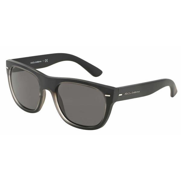 Dolce & Gabbana Mens DG6091 SOFT TOUCH 289687 Plastic Plastic Square Sunglasses