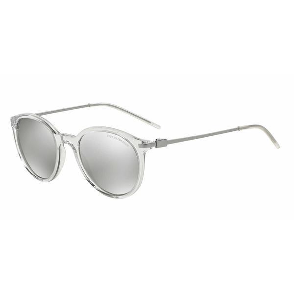 Emporio Armani Mens EA4050F 53716G Clear Plastic Phantos Sunglasses