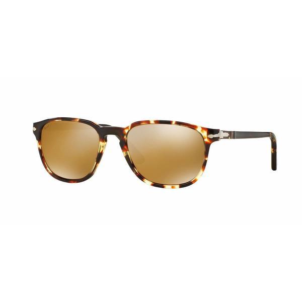 Persol Mens PO3019S 985/W4 Crystal Plastic Square Sunglasses