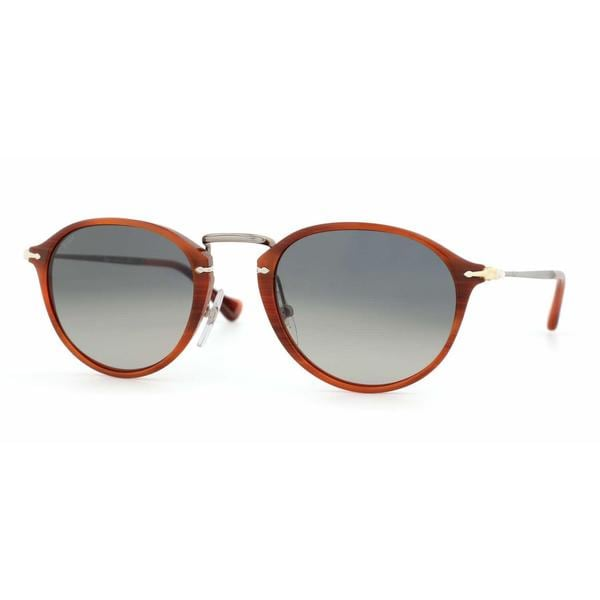 Persol Mens PO3046S 957/71 Brown Plastic Phantos Sunglasses