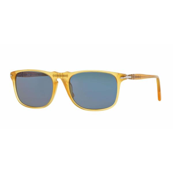 Persol Mens PO3059S 204/56 Yellow Plastic Square Sunglasses
