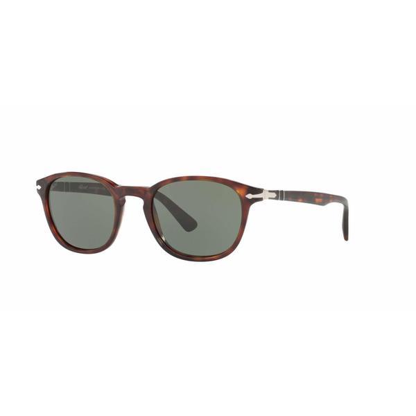 Persol Mens PO3148S 901531 Havana Plastic Square Sunglasses
