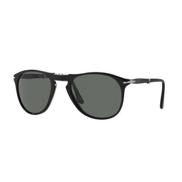 Persol Mens PO9714S 95/58 Black Plastic Cateye Sunglasses