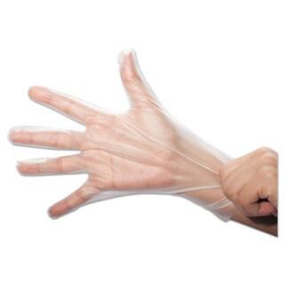 SemperGuard FoodSafe Stretch Poly Gloves, Clear, Small, Polyethylene, 2000/Ctn