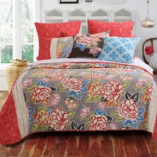 Barefoot Bungalow Gypsy Rose 3-piece Quilt Set