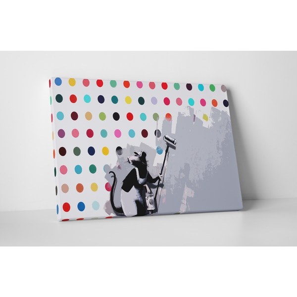 Banksy 'Rat Hirst Spots' Gallery Wrapped Canvas Wall Art 22317099