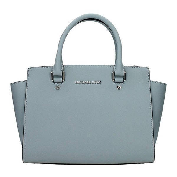 Michael Kors Selma Medium Dust Blue Satchel Handbag