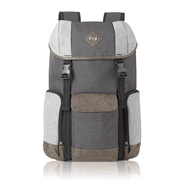Solo Urban Nomad Flapover Grey Polyester 15.6-inch Laptop Backpack