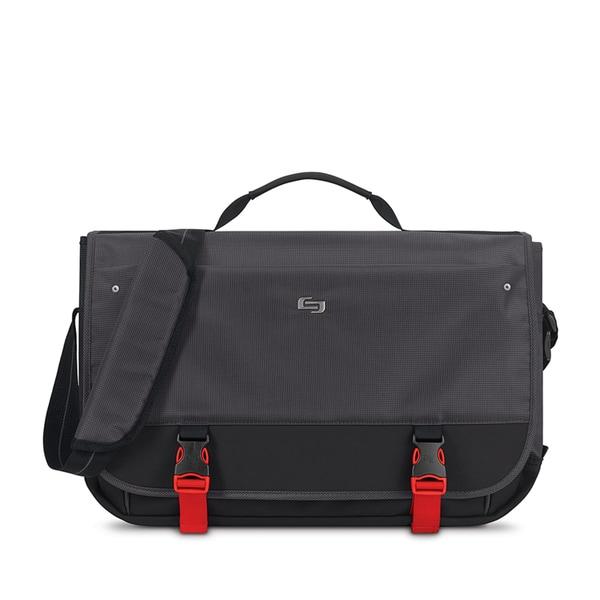 Solo Pro Aegis Black Polyester 15.6-inch Laptop Messenger Bag With RFID Pocket