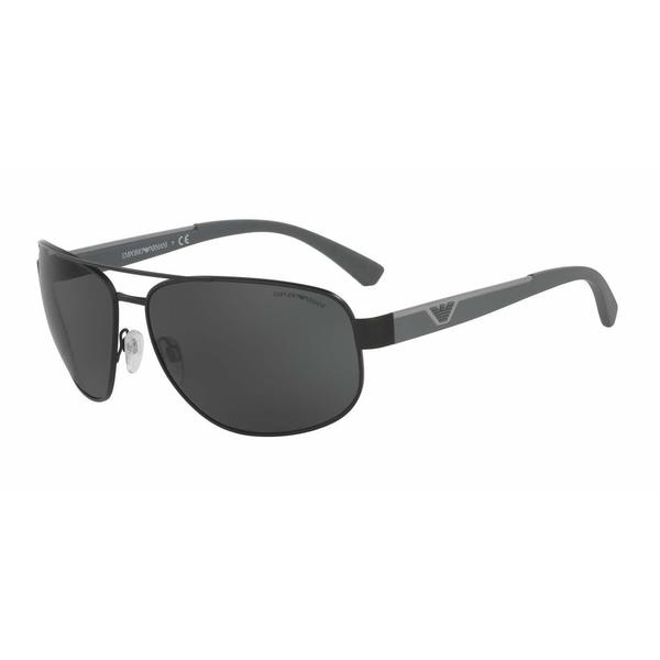 Emporio Armani Mens EA2036 300187 Black Metal Cateye Sunglasses