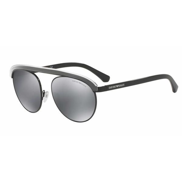 Emporio Armani Mens EA2035 30146G Black Metal Round Sunglasses