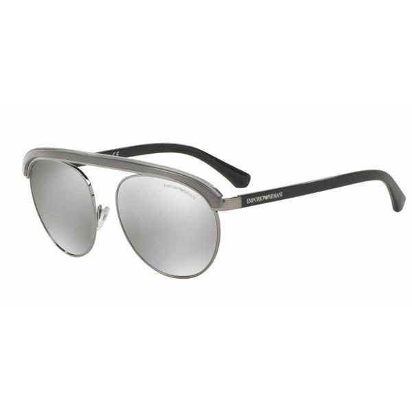 Emporio Armani Mens EA2035 30106G Gunmetal Metal Round Sunglasses