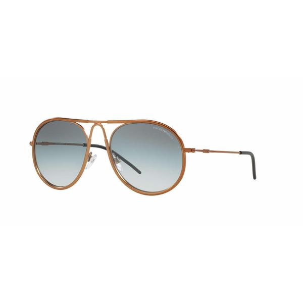 Emporio Armani Mens EA2034 31578E Bronze/Copper Metal Round Sunglasses