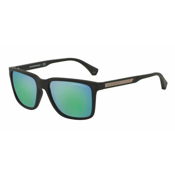Emporio Armani Mens EA4047 535431 Green Plastic Square Sunglasses
