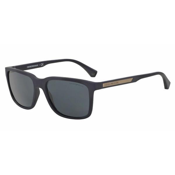 Emporio Armani Mens EA4047 506587 Blue Plastic Square Sunglasses