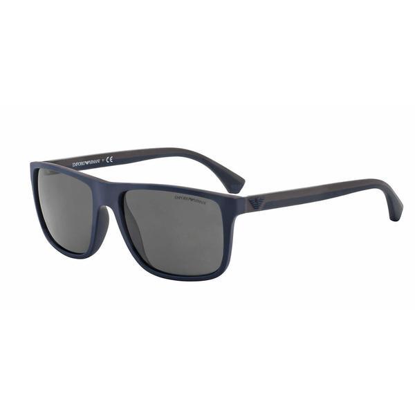 Emporio Armani Mens EA4033 523087 Brown Plastic Square Sunglasses