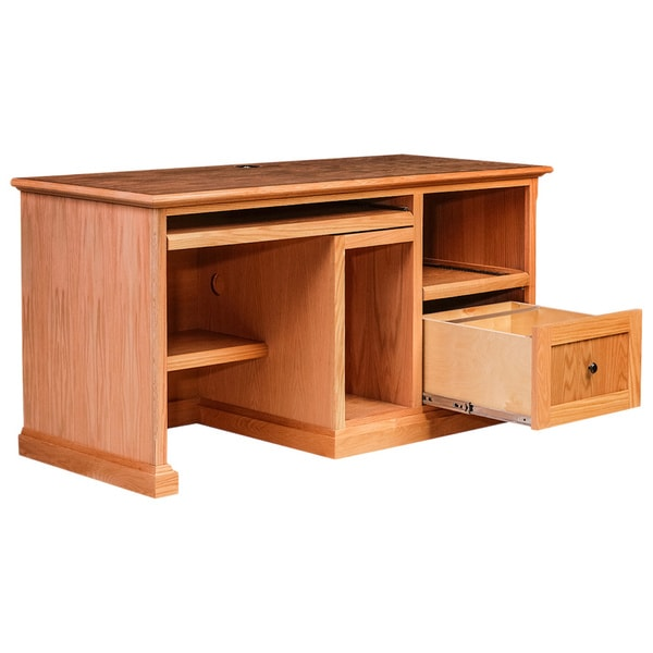 Forest Designs 60-inch Alder/ Oak Black Knob Mission Desk