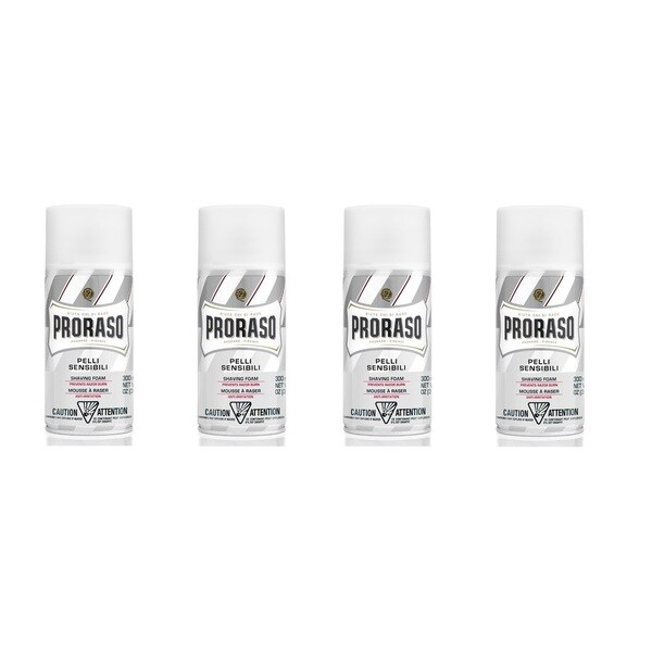 Proraso Oatmeal Extract & Green Tea Sensitive White 10.5-ounce Shaving Foam