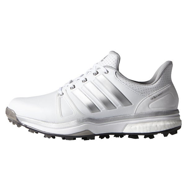 Adidas Adipower Boost 2 Golf Shoes FTWR White/Silver Metallic