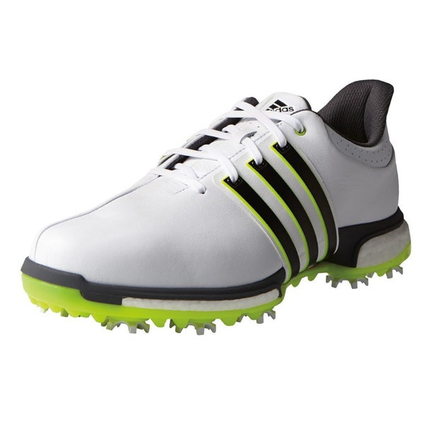 Adidas Tour360 Boost Golf Shoes White/Core Black/Solar Yellow