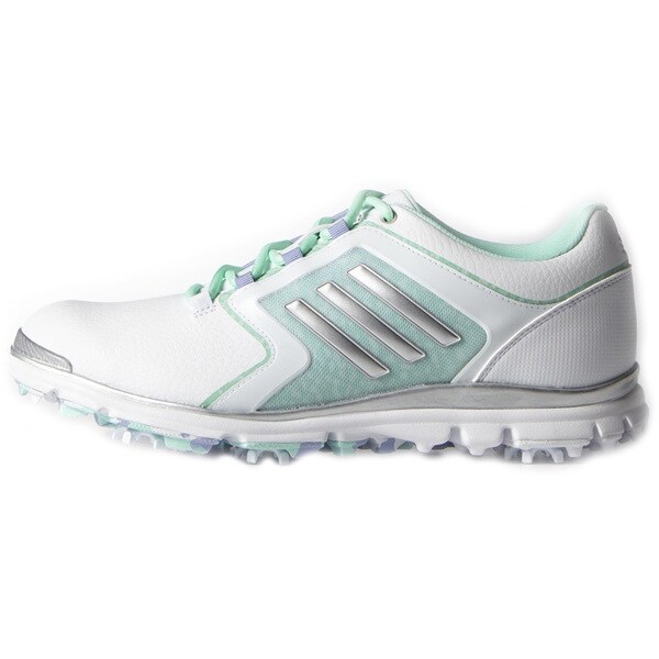 Adidas Adistar Tour Golf Shoes Ladies White/Silver Metallic
