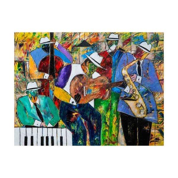 Jazz Session Canvas Art by Kelvin Henderson