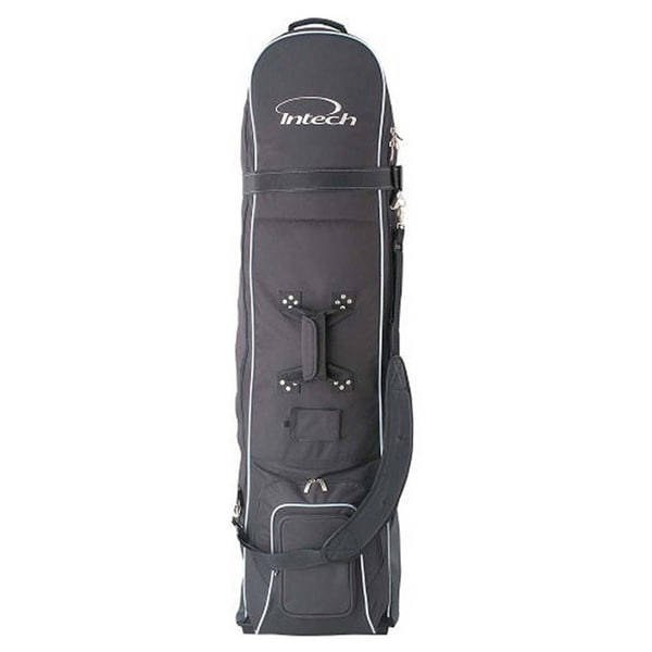 Intech Black Polyester Golf Travel Cover with Wheels