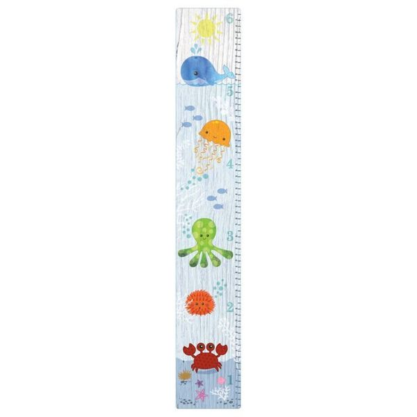Under The Sea Sticky Wall Canvas Growth Chart