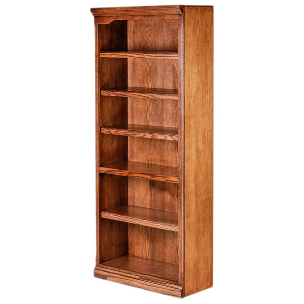 Forest Designs Wood 30-inch Wide x 72-inch High x 13-inch Deep Traditional Bookcase