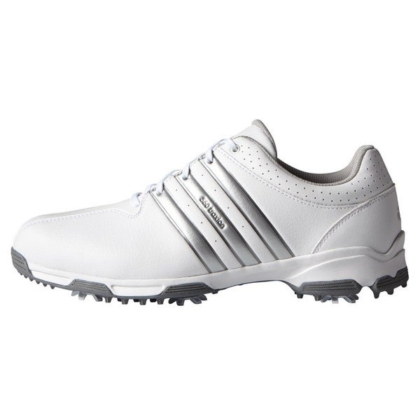 Adidas Men's 360 Traxion White/ Silver Metallic Golf Shoes
