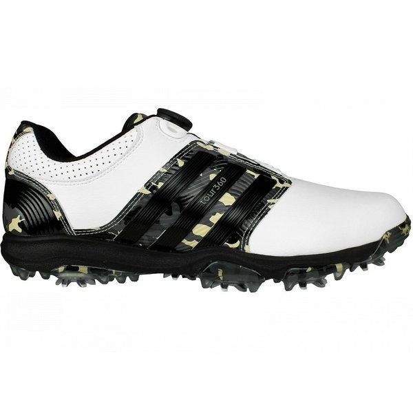 Adidas Men's Tour 360 X Boa Camo Limited Edition Running White/ Black/ Camo Golf Shoes