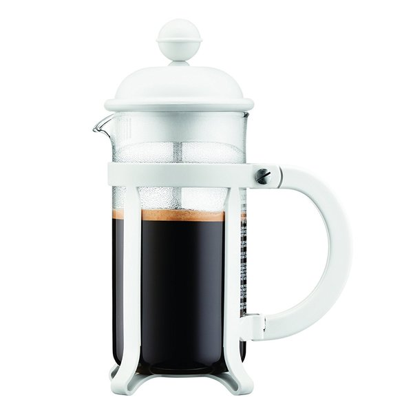 Bodum 3 cup Java French Press Coffee Maker, 12 oz, White 22321136