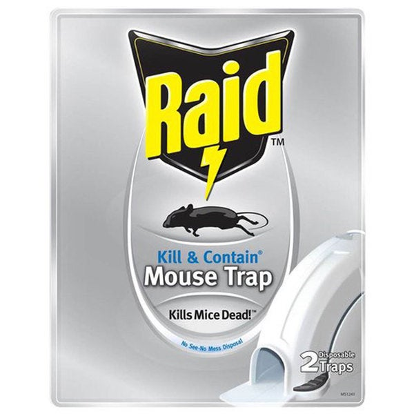 Raid Kill & Contain Mouse Trap (Set of 2)